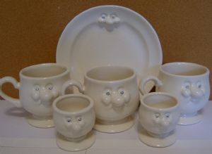 Carlton Ware Lustre Pottery Novelty Ware Mr Potts Breakfast Set